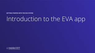 Introduction to the EVA app - SANE