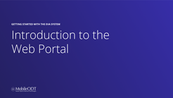 Introduction to the EVA portal
