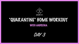 """Day 3 """"QUARANTINE"""" FREE HOME WORKOUT"""