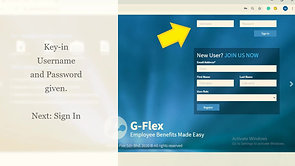 G-Flex Tutorial Video 1 - How to login to G-Flex (Amended Website Landing Page)