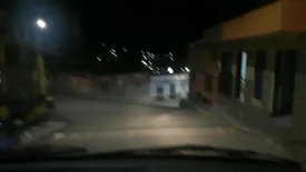 Driving at night in Colombia