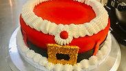 Santa Themed Fondant Cake