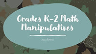 K-2 Math Manipulatives List