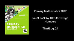 PM 2022 Count Back by 100s 3-Digit Numbers