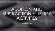 Fluency Activities Addition