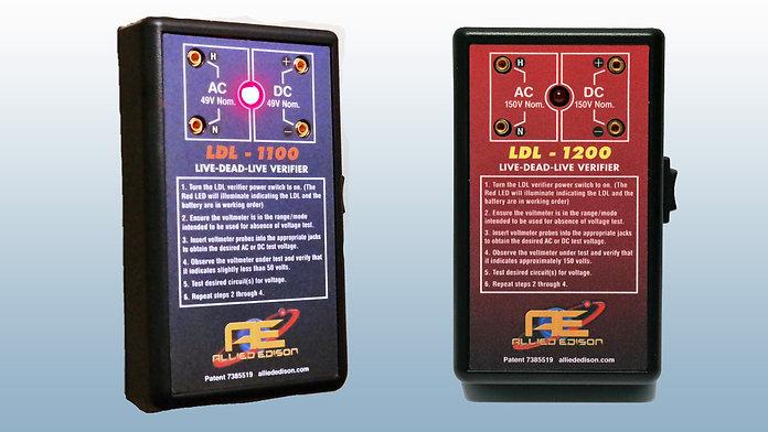 Allied Edison LDL-1100, LDL-1200 Live-Dead-Live Verifier Meters