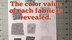 selecting fabrics using color value video