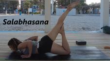 Salabhasana, extensiones