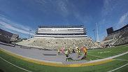 Stadium setup timelapse
