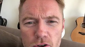 Ronan Keating supporting the Awesome Movement
