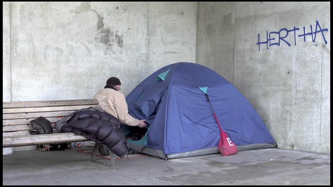 Stadt der Obdachlosen