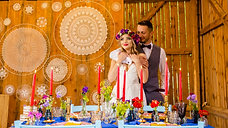 Wesele w stodole, rustykalne. Boho wedding.