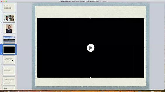 Meditation App Informational Video