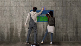 twee fans gezocht Graffiti Logo rijschool groen