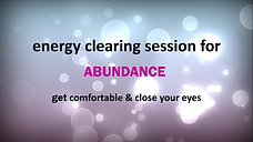 Energy Clearing Session For Income And Income Limits