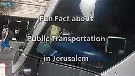 עובדה משעשעת על תחבורה ציבורית בירושלים