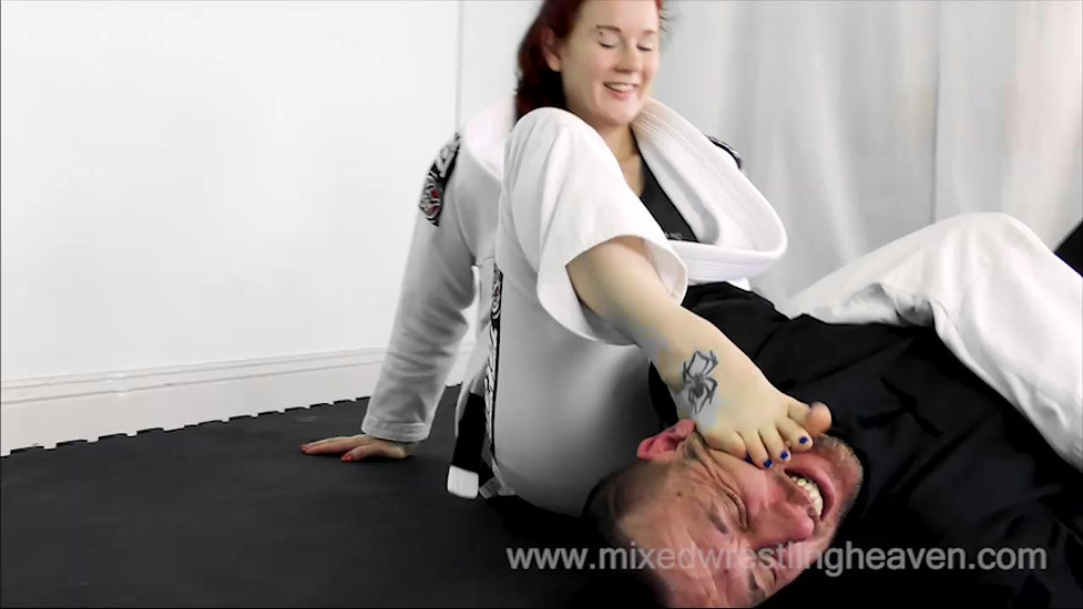 MWH0051 Student humiliates Sensei - Judo throws and Foot Domination