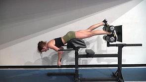 GHD Single Leg Plank