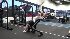 Incline Bench Pull Over