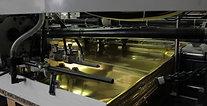 Bogenaufnahme einer Siebdruckmaschine