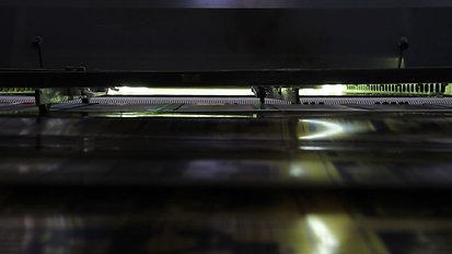 UV-Trockner einer Siebdruckmaschine