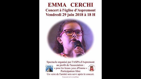 emma en concert le 29 juin à 18h à eglise d'aspremont(05)