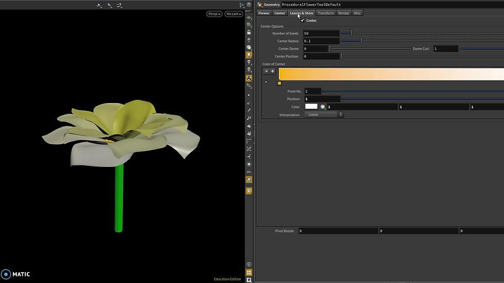 Procedural Flower Tool Demo