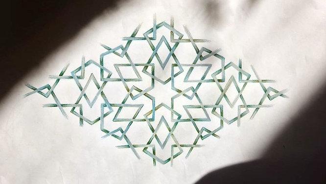 Variation on a 6 fold pattern found on The Minbar of Saladin
