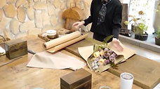 How to wrap flower bouquet using Kraft paper