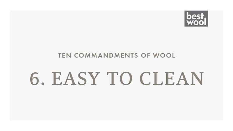 6. Easy to Clean - Best Wool