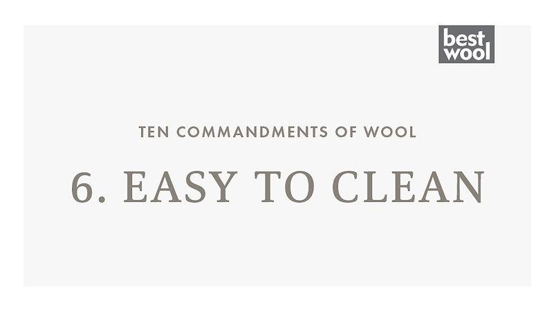 6. Easy to Clean - Best Wool