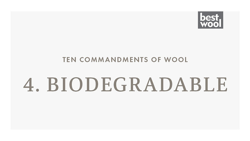 4. Biodegradable - Best Wool