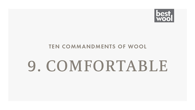 9. Comfortable - Best Wool