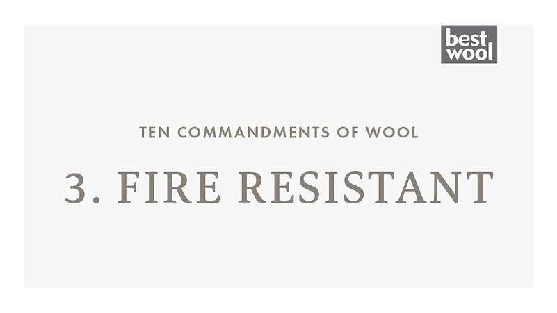 3. Fire Resistant - Best Wool