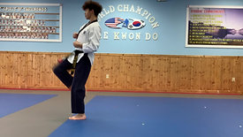 1st Black Belt 2 Stripes Palgwae 2 Jang