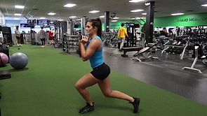 Dumbbell Curtsy Lunges