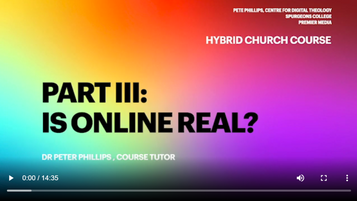 Is Online Church Real? - Pete Phillips