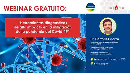 Webinar: herramientas diagnosticas de alto impacto en la mitigación de la pandemia del covid