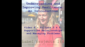 Pillars 3 & 4: Supportive Relationships and Managing Problems