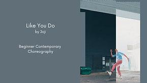 Like You Do - Beginner Contemporary
