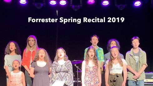 Forrester Spring Recital 2019 (5min..cut)