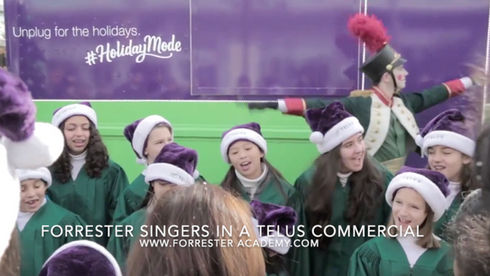 Forrester Singers in a TELUS commercial