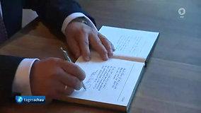 Tagesschau TMH Steinmeier mit Gästebuch
