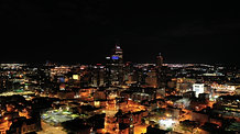 Indy at night. Night photos and video clips in Downtown, Indianapolis