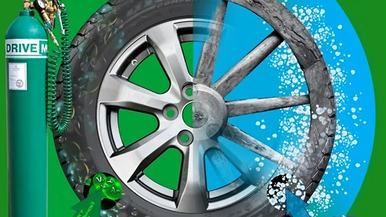 Накачка шин смесью инертных газов Drive-MG