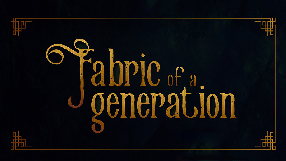 Fabric of a Generation Book Trailer
