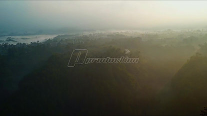 Mountain Landscape Timelapse Moving Clouds in West Java