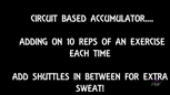 Accumulator Circuit Sep 2017 - HIIT BOOTCAMP
