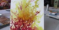 Démo jaune chartreuse et rouge pérylène