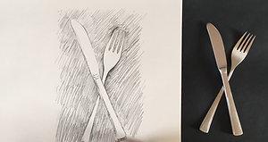 A knife, a fork